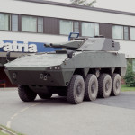 Patria AMV Armored Modular Vehicle with AMOS Twin 120mm Mortar