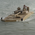 Patria AMV with BMP-3 Turret for the UAE swimming