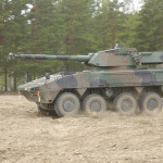 Patria AMV with  CMI 105 turret mounting a 105mm Rifled main gun