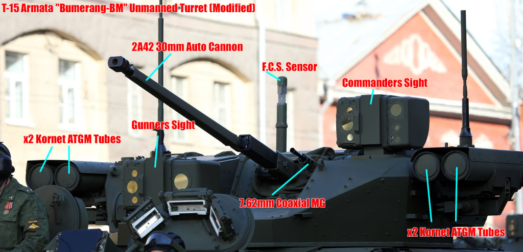 T-15 Armata Infantry Fighting Vehicle Turret
