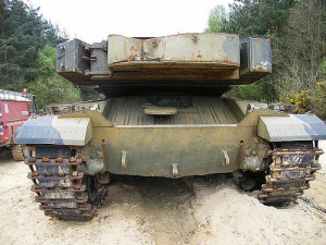 Challenger 1 Tank Missing Its Chobam Armor