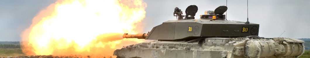 Challenger 2 Tank Live Firing During Exercise