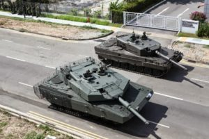 Leopard 2A4 Tank and upgraded Leopard 2SG of Singapore