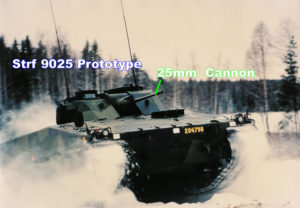 Combat Vehicle 90 - Mk0 Strf 9025 Prototype