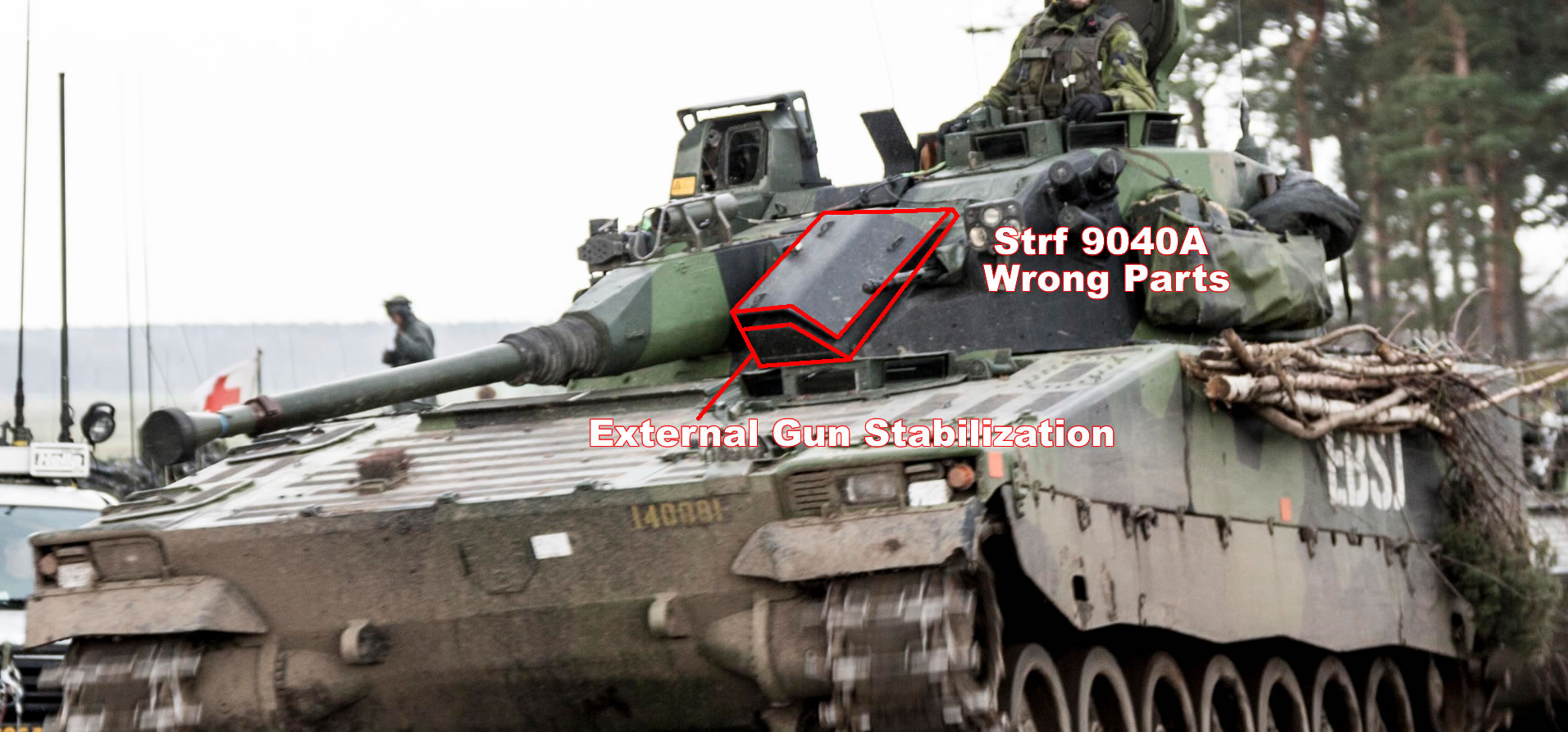 Estonia received the first infantry fighting vehicles CV9035NL Mk III from the Netherlands