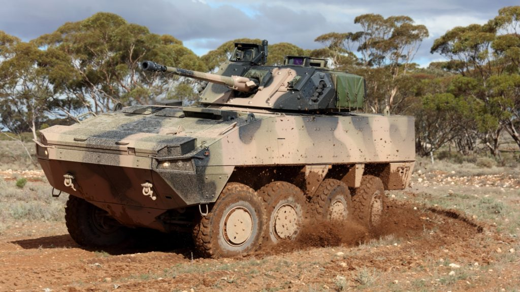 Patria AMV35 Hybrid Features The CV9035 Turret For The Australian Army Land 400 Program