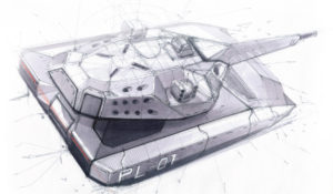 PL-01 Concept Medium Tank Artwork by OBRUM
