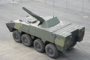 Patria NEMO Mortar mounted on AMV 8x8