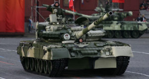 The T-80B Tank was upgraded to the T-80BV
