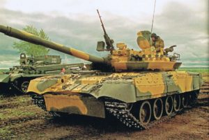 "T-80U Tank with Arena ""Hard-Kill"" Active Protection System the T-80UM-1"