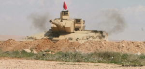 Falcon Turret with Complete Gunners Sight on Challenger 1 Al-Hussein Tank