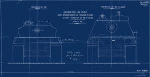 French AMX-50 Tank model the AMX-50-120 Blueprint (2)