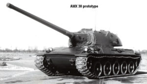 The French AMX-30 Tank model AMX-30A Prototype