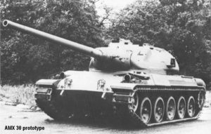 French AMX-30 tank prototype